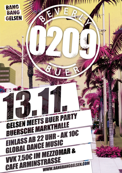 Flyer: Bang Bang Gelsen meets Beverly Buer 0209 Party